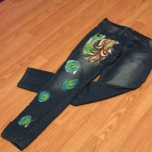 Painted mermaid jeans.